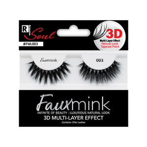 RESPONSE SOUL 3D MULTI LAYER EFFECT FAUX MINK EYELASHES #FML004