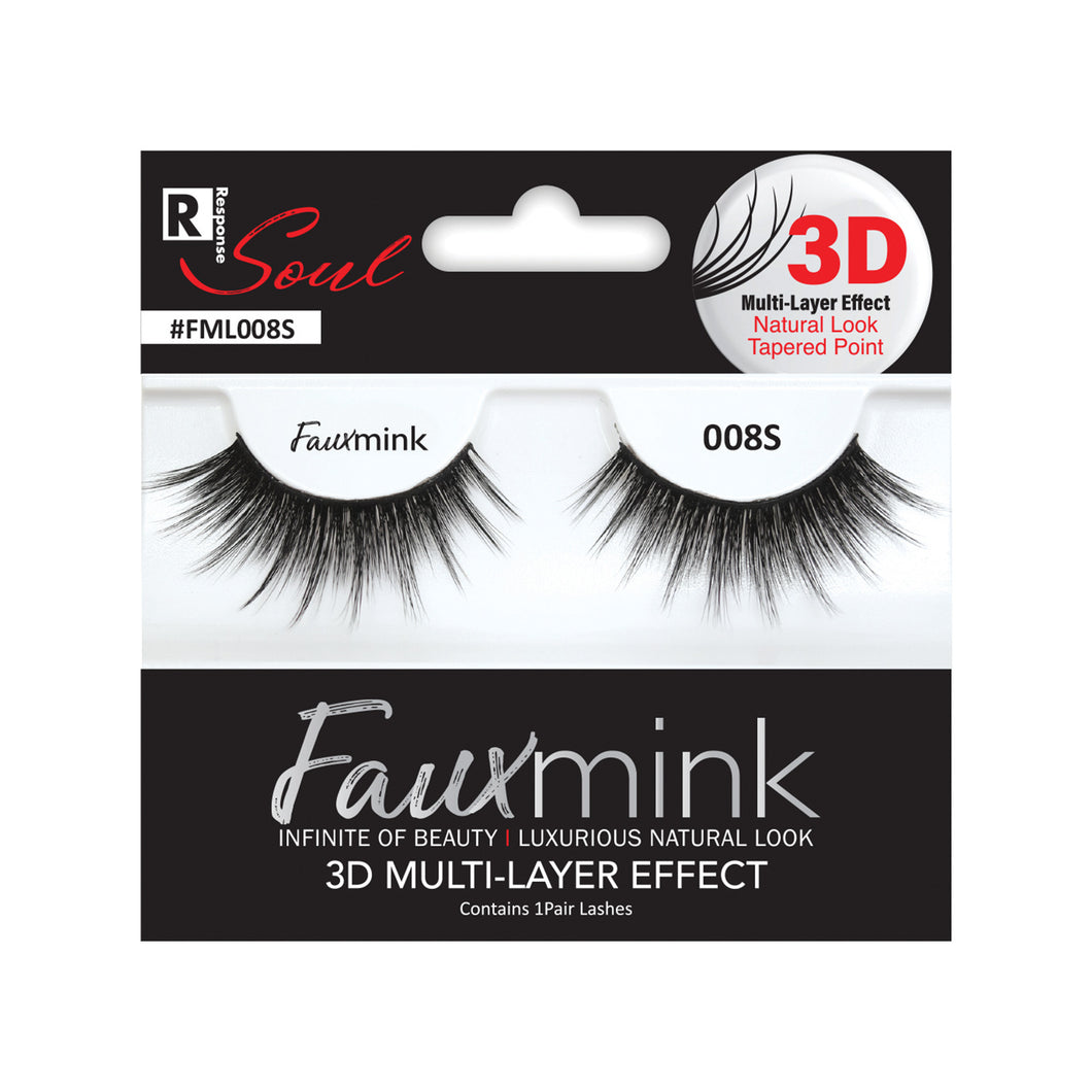 RESPONSE SOUL 3D MULTI LAYER EFFECT FAUX MINK EYELASHES #FML008S