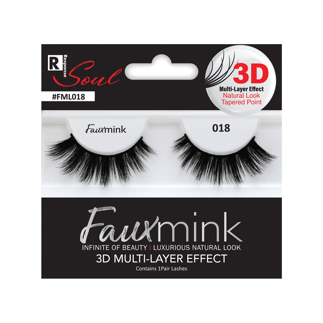 RESPONSE SOUL 3D MULTI LAYER EFFECT FAUX MINK EYELASHES #FML018