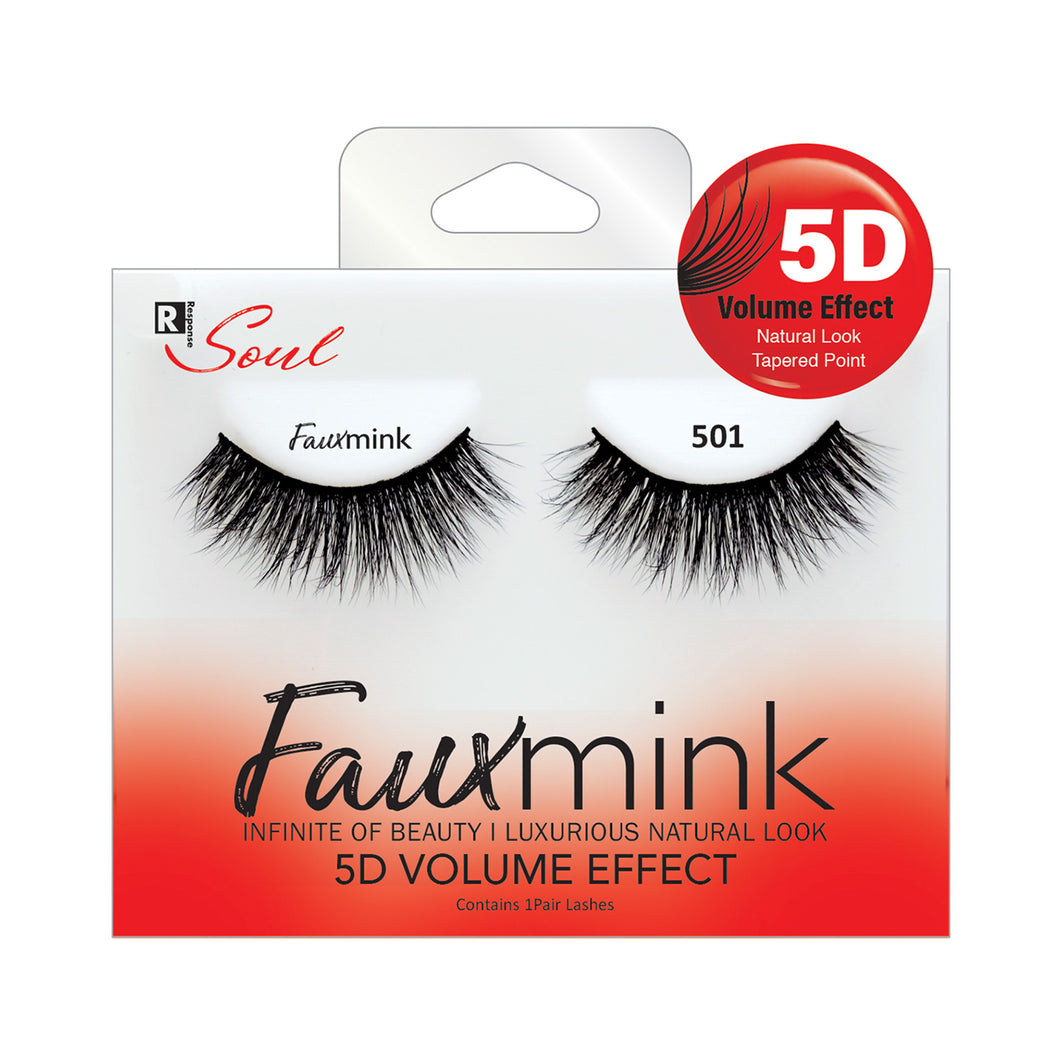 RESPONSE SOUL 5D MULTI LAYER EFFECT FAUX MINK EYELASHES #FML501