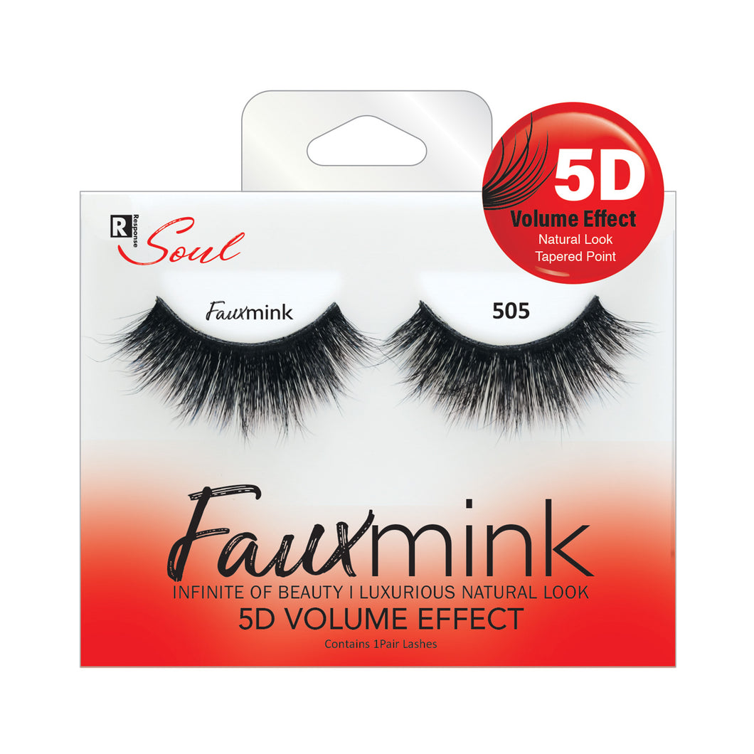 RESPONSE SOUL 5D MULTI LAYER EFFECT FAUX MINK EYELASHES #FML505