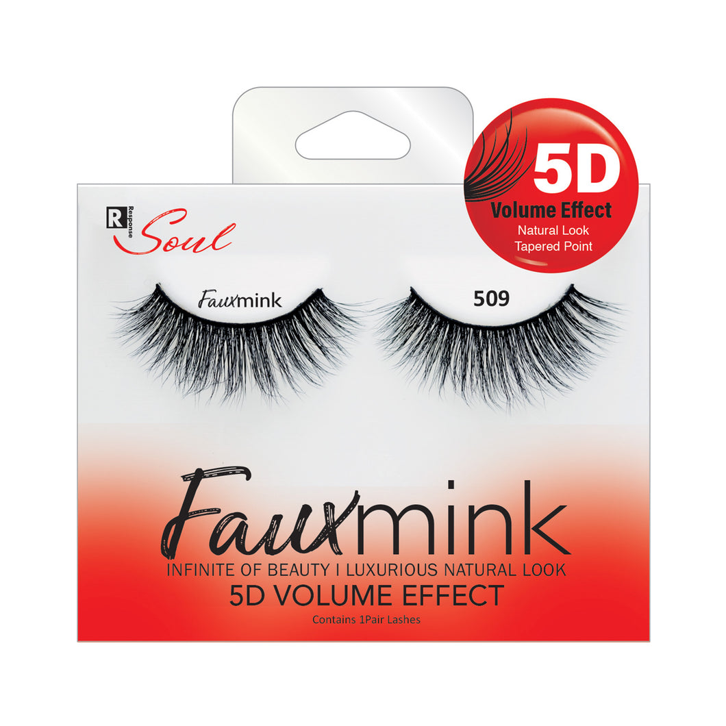 RESPONSE SOUL 5D MULTI LAYER EFFECT FAUX MINK EYELASHES #FML509