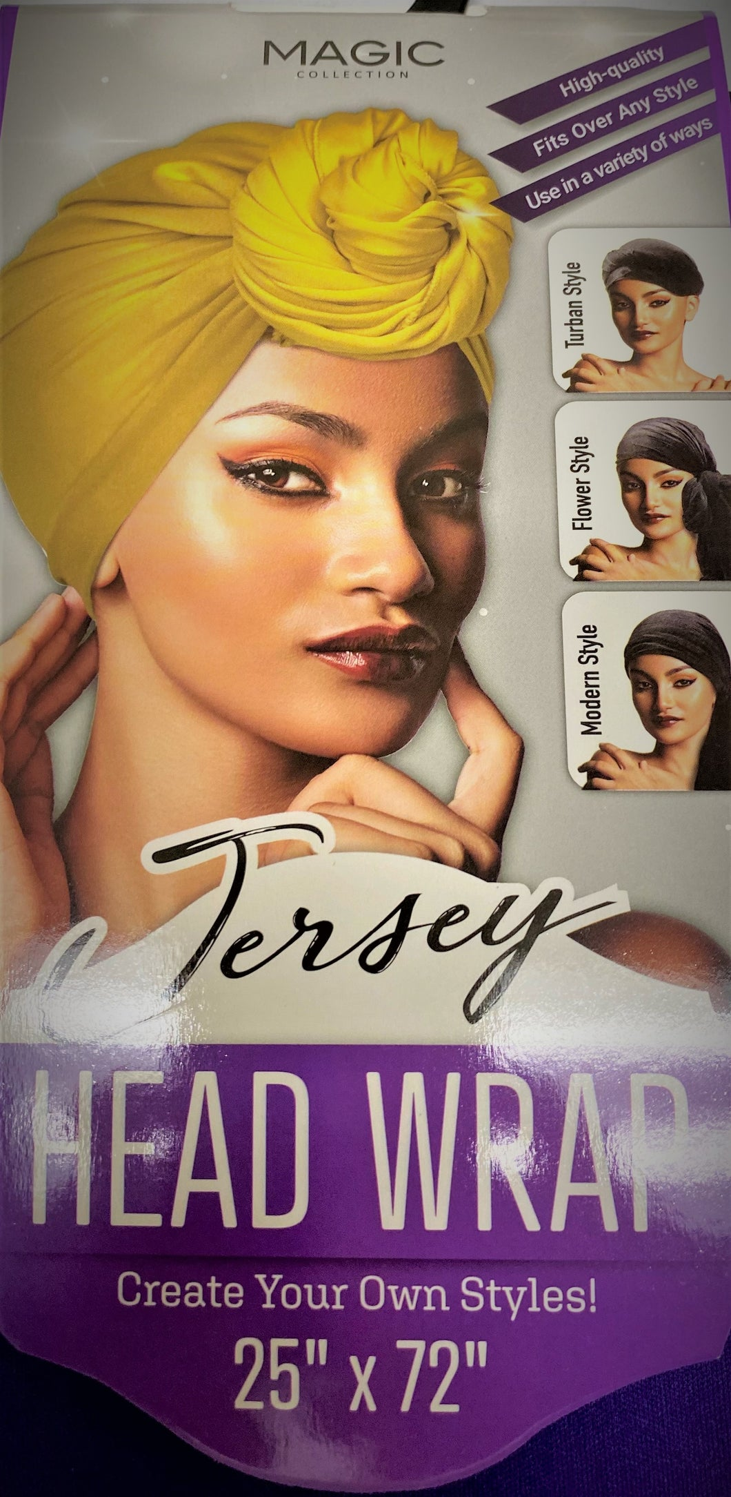 MAGIC® COLLECTION STRETCH JERSEY HEAD WRAP (25