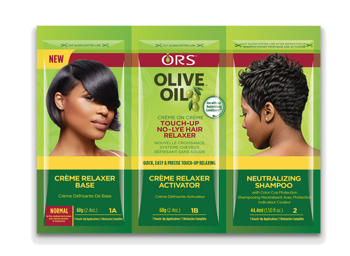 ORS® OLIVE OIL NO-LYE RELAXER TOUCH-UP TRI-PAC