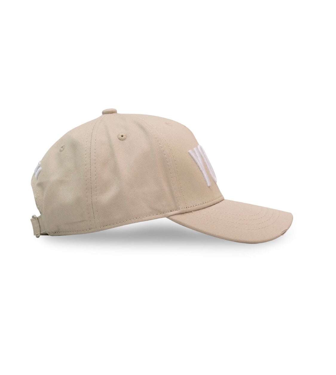 Yotti Distressed Cap | Champagne White