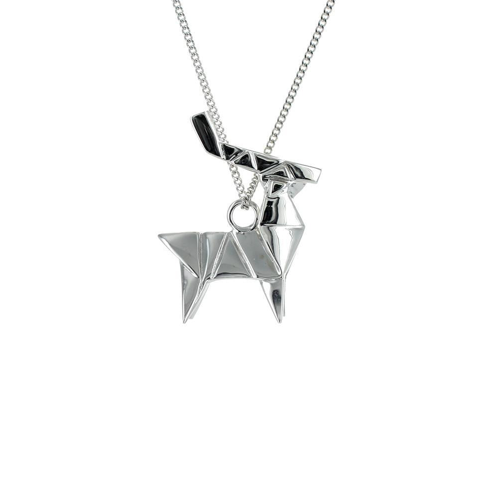 Deer Necklace - Origami Jewellery - THE POMMIER - 4