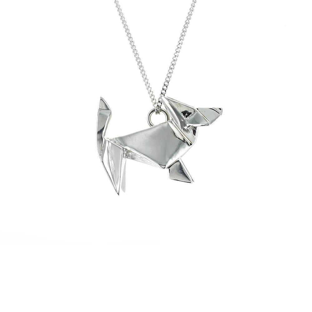 Dog Necklace - Origami Jewellery - THE POMMIER - 4