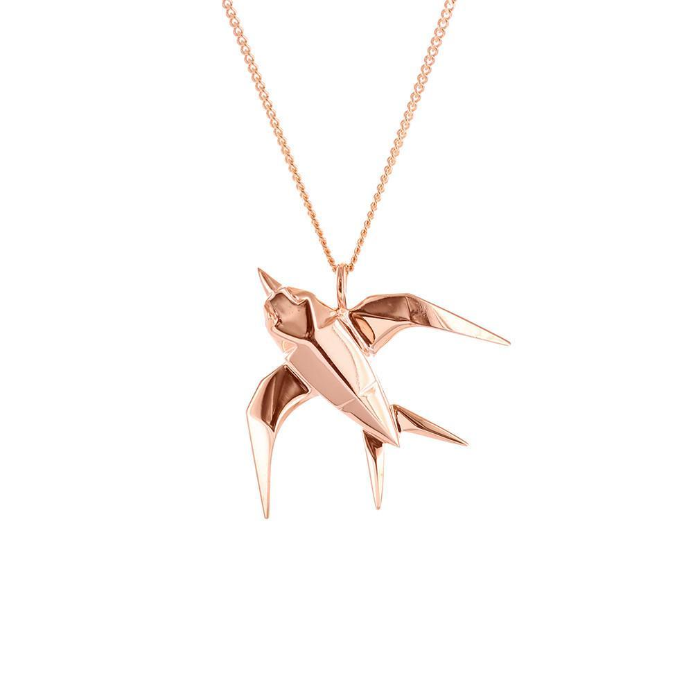 Swallow Necklace - Origami Jewellery - THE POMMIER - 1