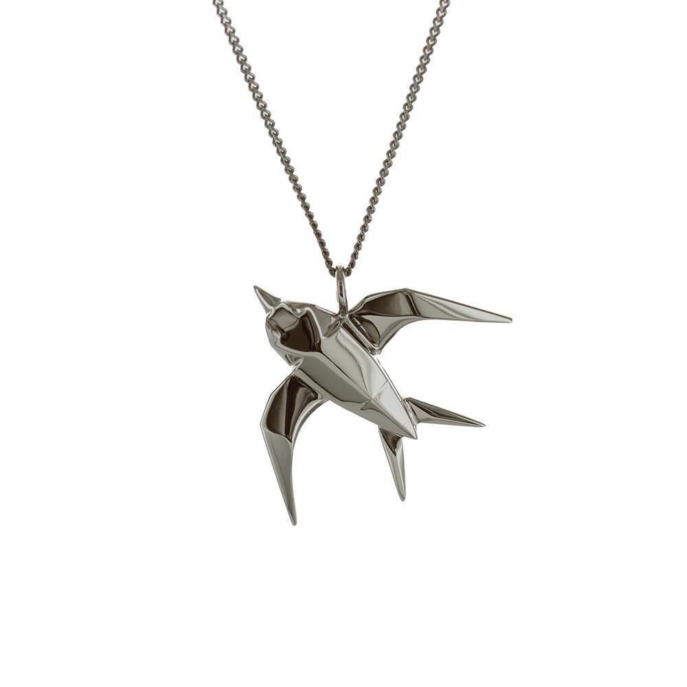 Swallow Necklace - Origami Jewellery - THE POMMIER - 4