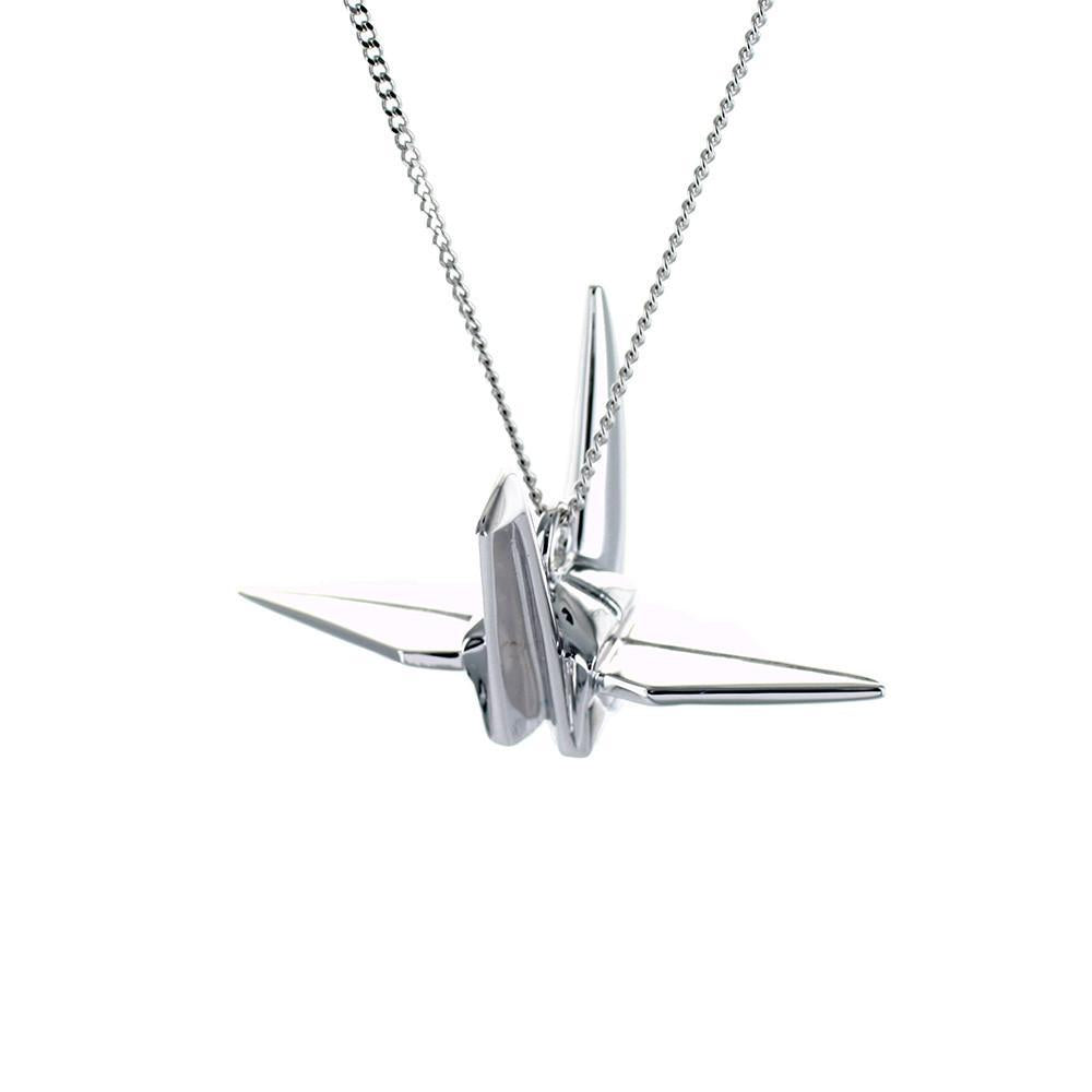 Crane Necklace - Origami Jewellery - THE POMMIER - 2