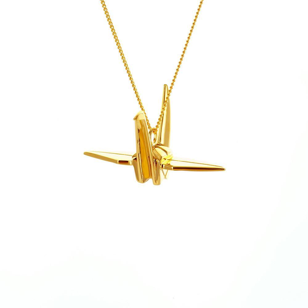Crane Necklace - Origami Jewellery - THE POMMIER - 4