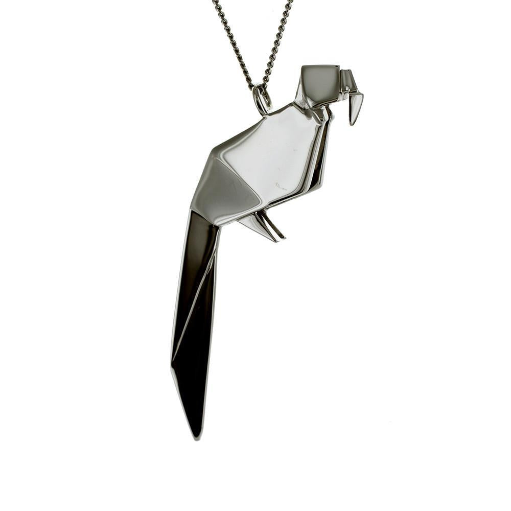 Parrot Necklace - Origami Jewellery - THE POMMIER - 3