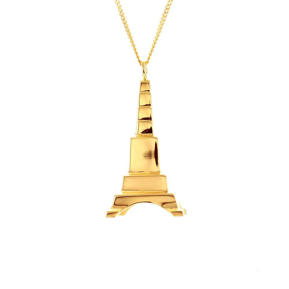 Eiffel Tower Necklace - Origami Jewellery - THE POMMIER - 3