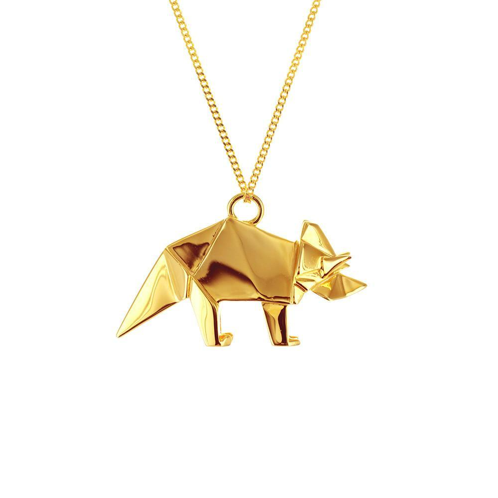 Triceratops Necklace - Origami Jewellery - THE POMMIER - 1