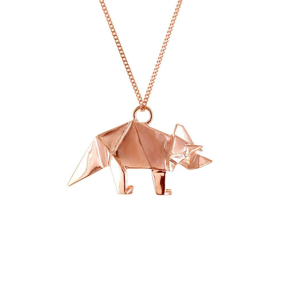 Triceratops Necklace - Origami Jewellery - THE POMMIER - 2