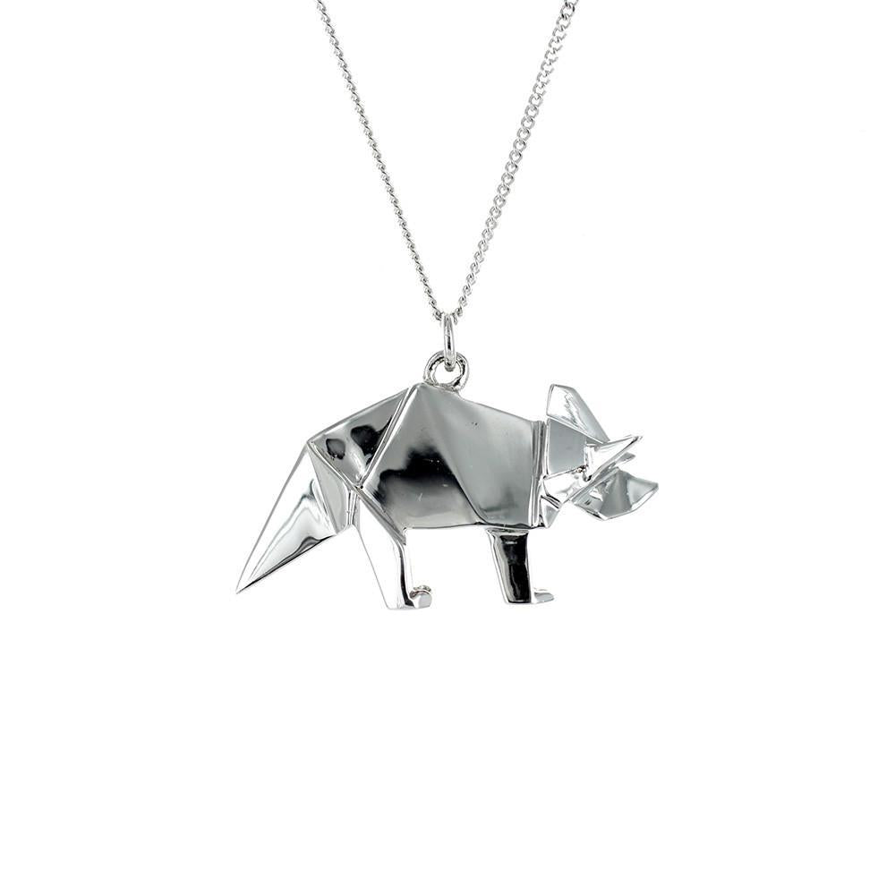 Triceratops Necklace - Origami Jewellery - THE POMMIER - 4