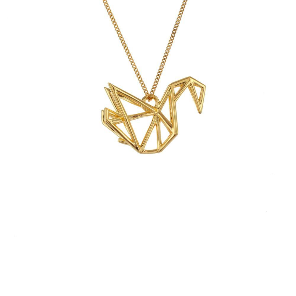 Frame Swan Necklace