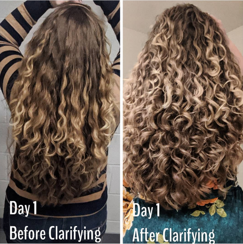Before and After Detox Shampoo Treatment