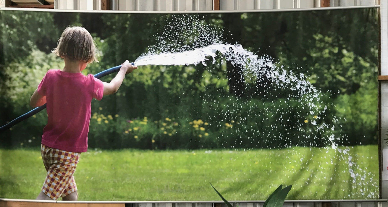 Wall Banner - Girl with Garden Hose