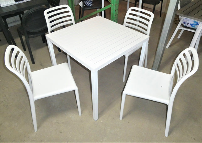 Cube 80/Costa Bistrot - 5 Piece Dining Setting