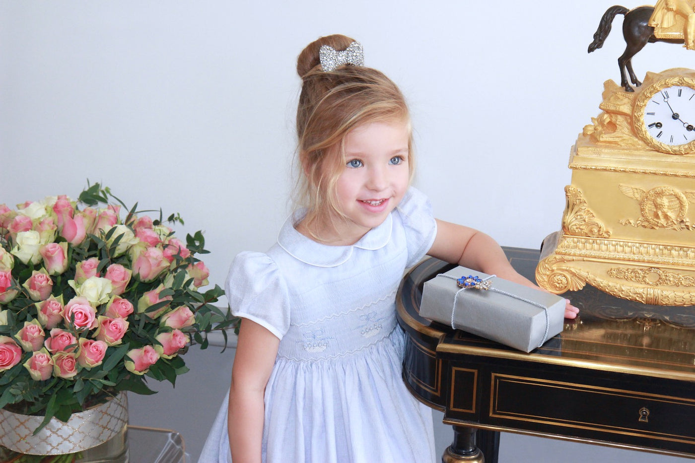 Timeless French style elegant smocked dresses for babies and girls