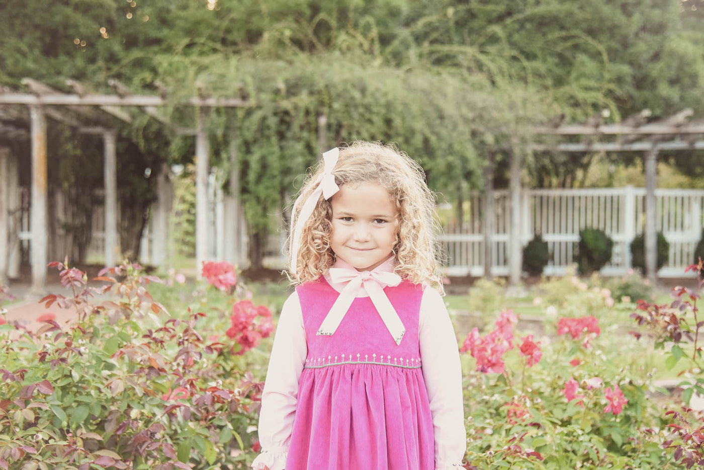 autum winter handmade classic chic children's smocked dresses