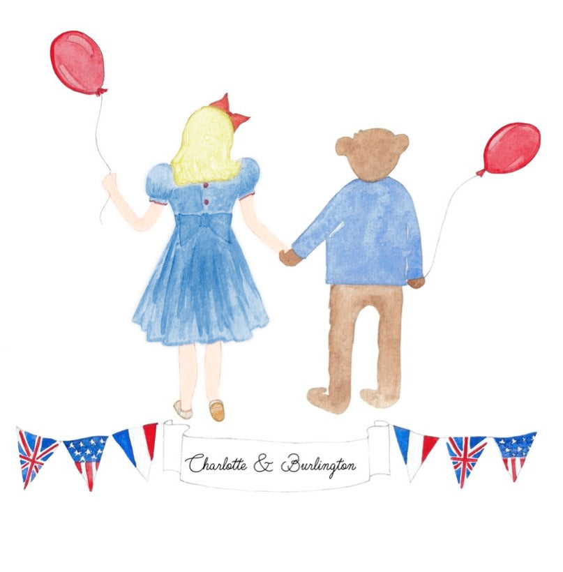 THE ADVENTURES AND WARDROBE OF CHARLOTTE AND BURLINGTON: THE STORY OF AN AMERICAN SASHA DOLL AND A VERY ENGLISH BEAR AROUND THE WORLD
