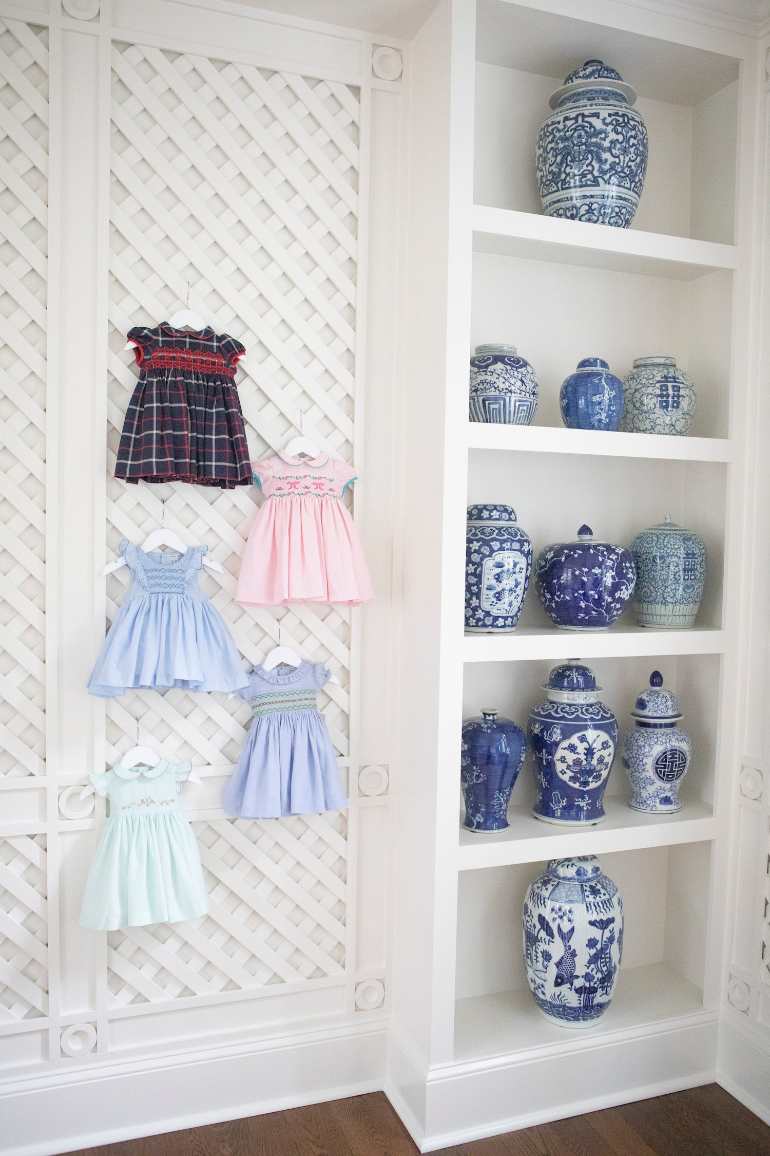 October trunk show in Atlanta with Emily Hertz smocked dresses baby