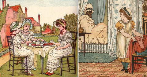 Illustration from The Birthday Book, by Kate Greeaway, 1880, Editions George Routledge & Sons on illuminated-books
