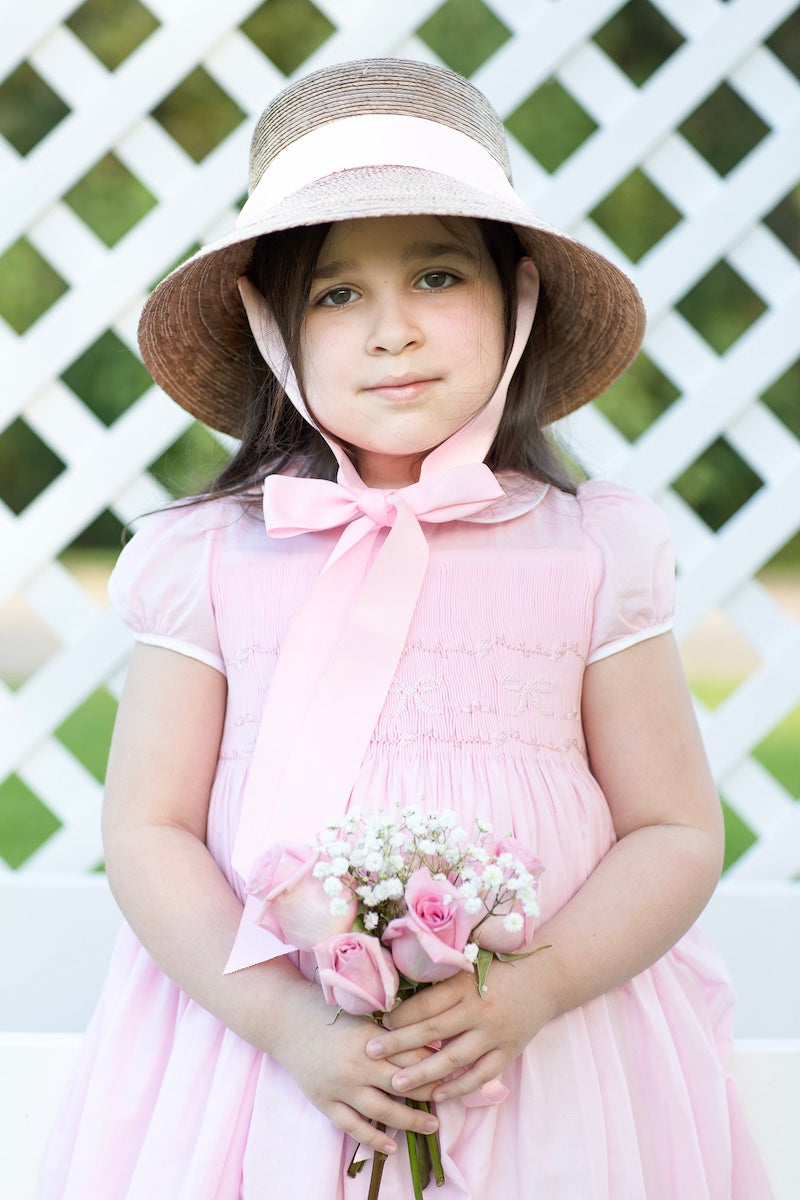 Charlotte sy Dimby & Shari Ford traditional child portrait in a classic smocked dress