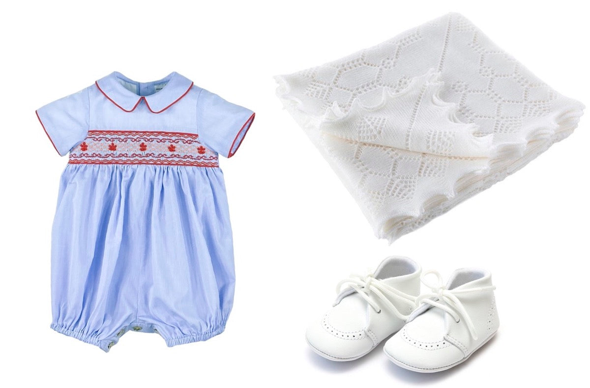 Prince Louis classic baby boy look - bubble and shoes