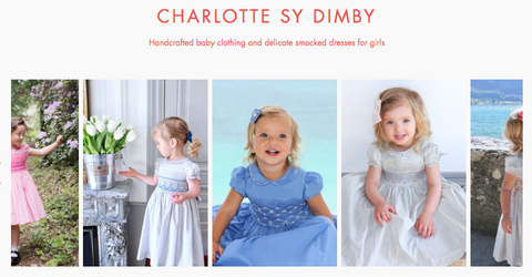 Babyccino kids boutique -timeless handmade smocked dresses Charlotte sy Dimby