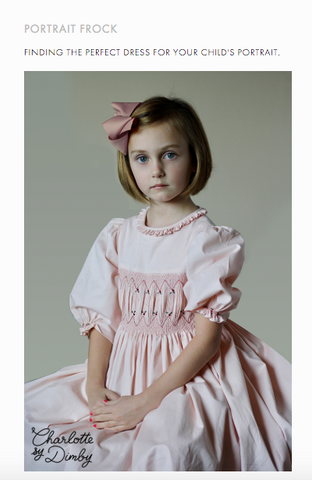 Sally Gates - heirloom child portrait - find the perfect frock Charlotte sy Dimby