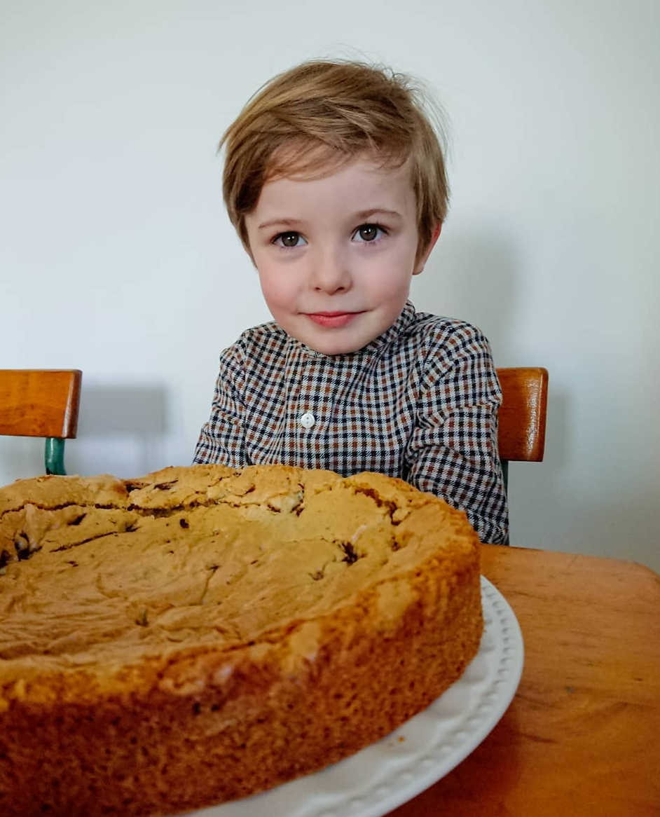 Sharing with Marilyn, mother of three on French baking