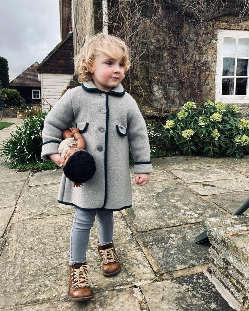 Beautiful handmade wool coat for children by Marae Charlotte sy Dimby