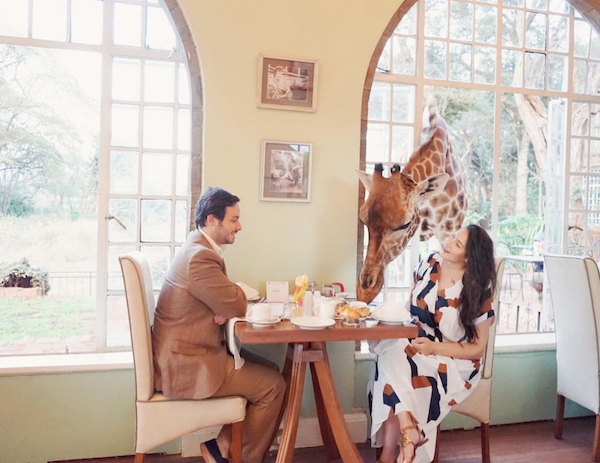Honeymoon in Kenya - Giraffe Manor