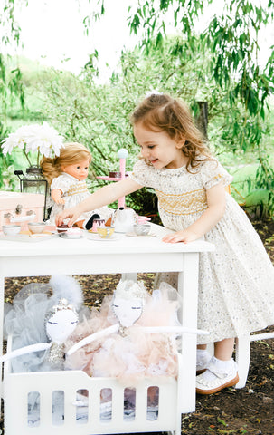 handmade smocked dress happy client tea party