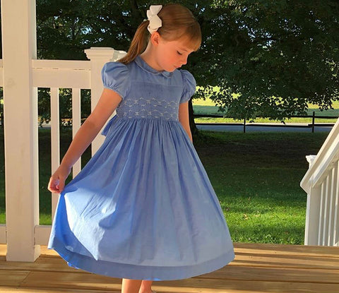 happy client cerise glycine lavender blue smocked dress french style charlotte sy dimby