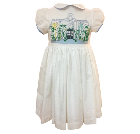 Green house handmade embroidered dress