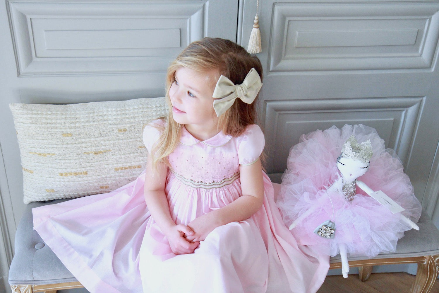 charlotte sy dimby smocked dress bow children blog post
