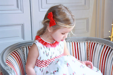 Charlotte sy Dimby frenchstyle handmade smocked dress classic chic girl children