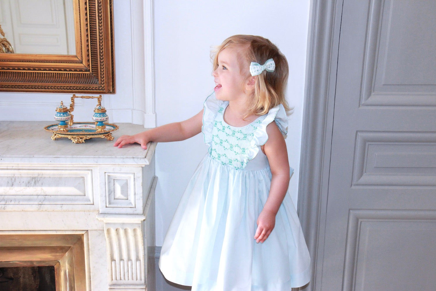 charlotte sy dimby blue netti dress with tulle layer