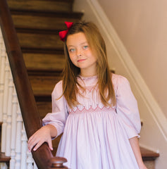 Rhytts in her Amandine Vintage smocks dress