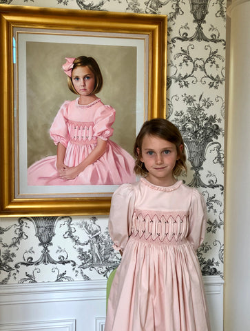 Sally Gates - Child's portrait - smocked dress