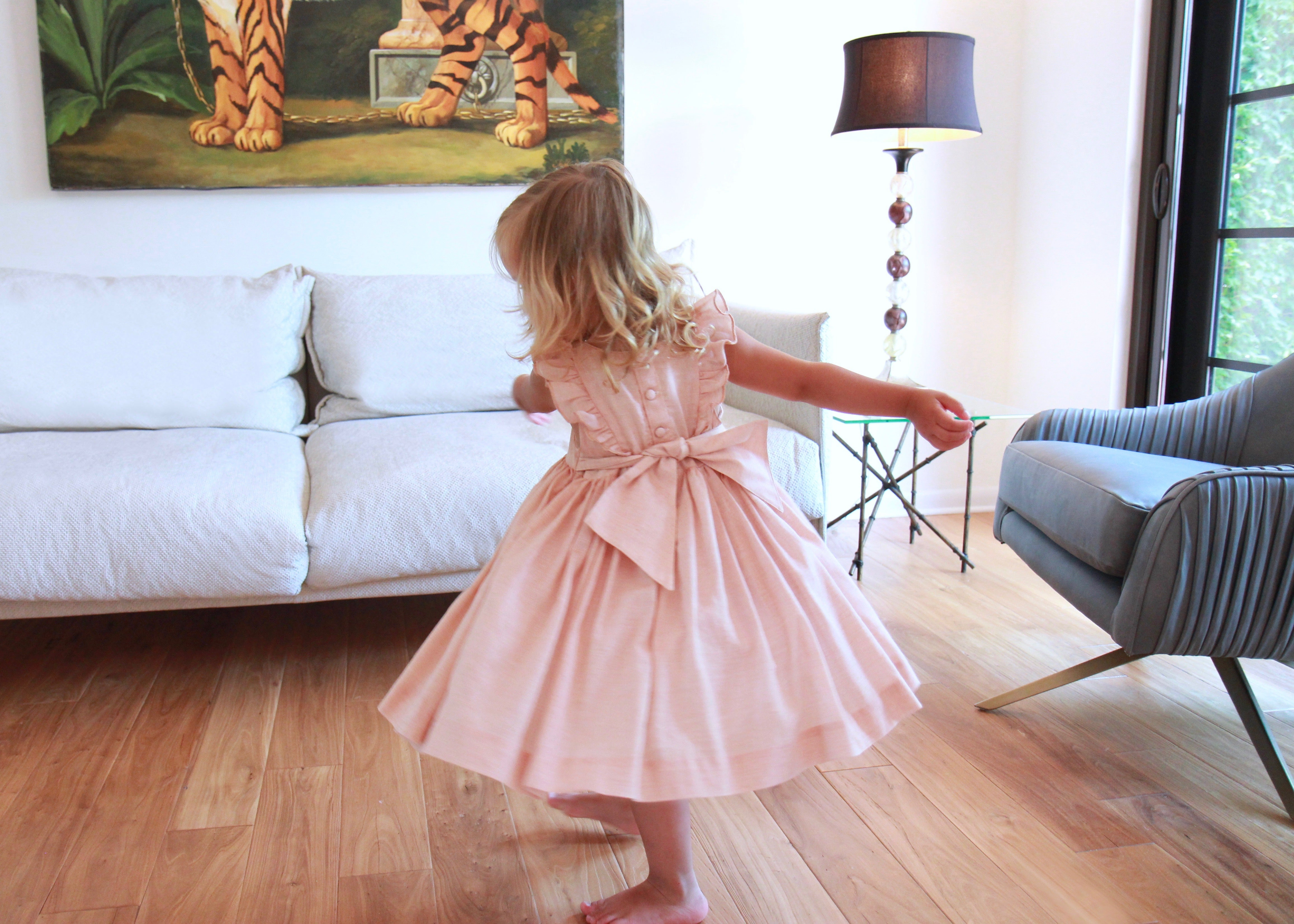 Netti smocked dress twirl Charlotte sy Dimby children blog article