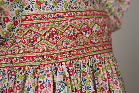 Liberty fabric - handmade smocked dress