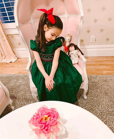 happy client christmas smocked dresses taffeta girl charlotte sy dimby party style