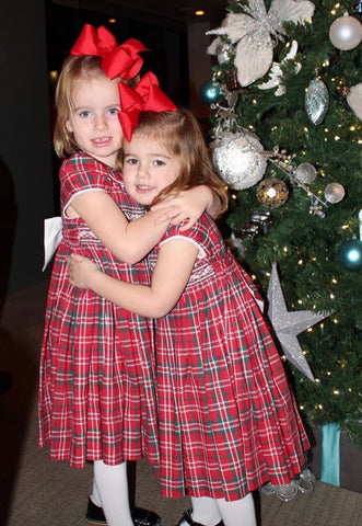 happy client christmas smocked dresses tartan girl charlotte sy dimby party style