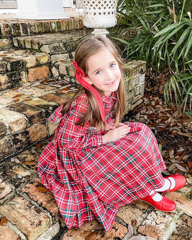 happy client christmas smocked dresses tartan girl charlotte sy dimby