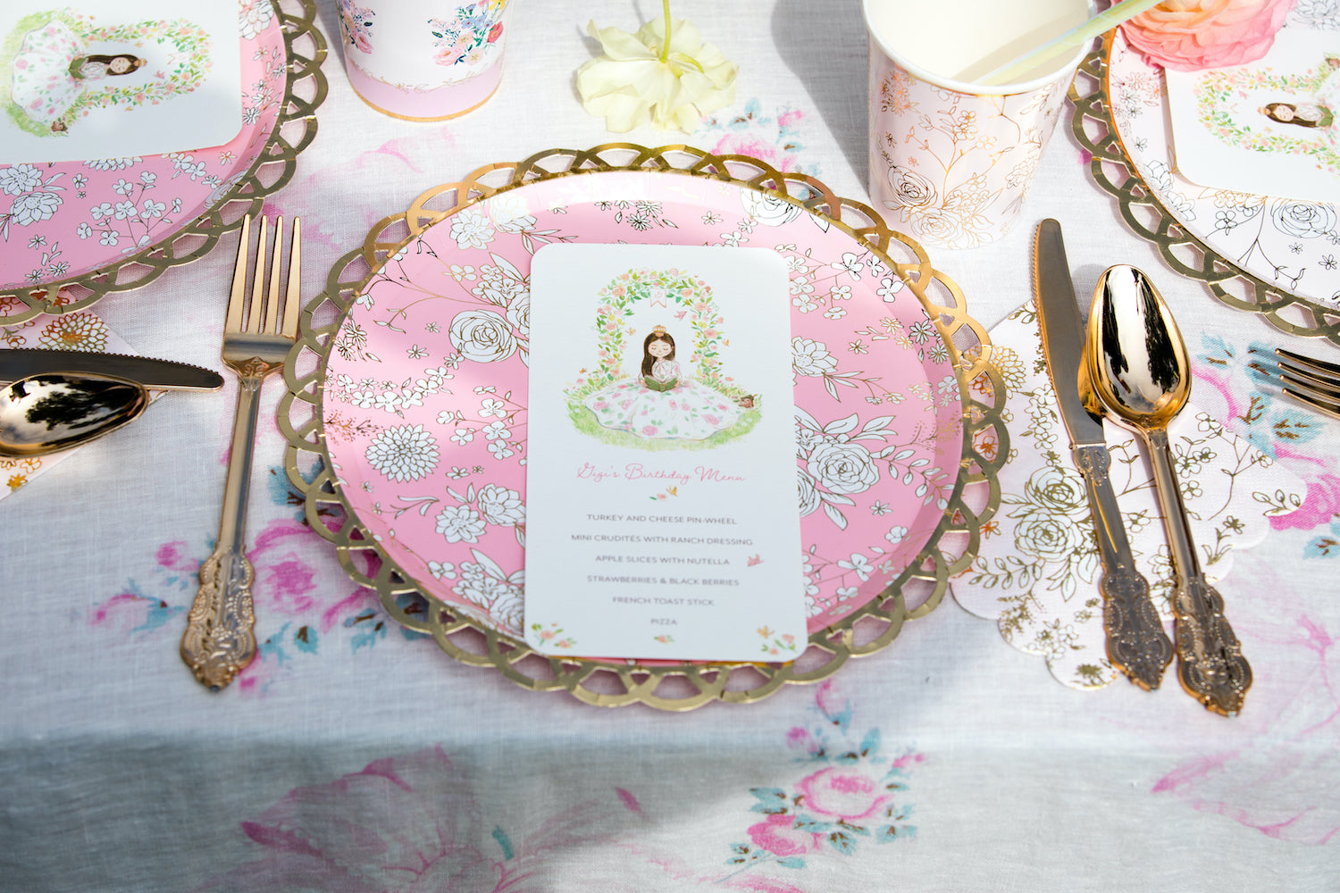 Princess birthday party inspiration Charlotte sy Dimby